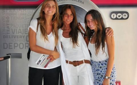 Manuela Nieto, Alejandra Rivas y Mónica Ugarte