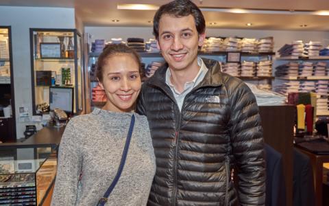 Pamela Torres y Felipe Sáez