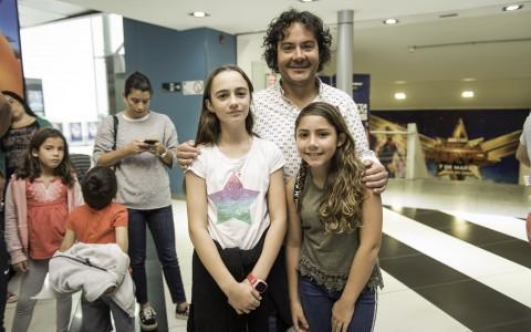 Maite Haracic, Luis Salinas y Sofía Salinas