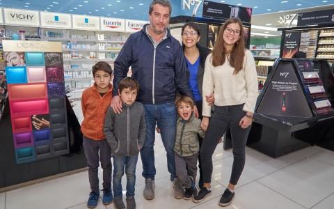 Héctor Ahumada, Angel Ahumada, Luis Ahumada, María Angélica Sanhueza, Facundo Ahumada y Catalina Ahumada