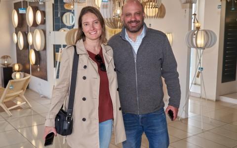 Marcela Azócar  y Christopher Desplas
